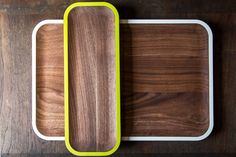 Handsome Walnut Serving Trays & Platters by David Rasmussen Design