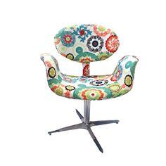 Cadeira Giratória Decorativa, Estampada, Joy