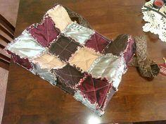 DIY Bags: DIY Cute Reversible Rag Quilt Tote Bag