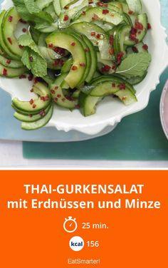 Thai-Gurkensalat | Grüne, würzige Vitaminbombe! Fertig in nur 25 Minuten und mit 156 Kalorien super für die Figur!
