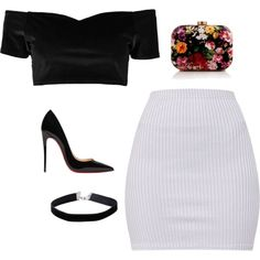 Night Out #8 by catalina-218 on Polyvore featuring moda, Boohoo, Christian Louboutin, WithChic and Miss Selfridge