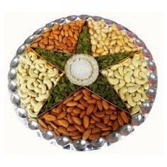 Decorative Items for Diwali Thali Decoration Ideas, Fruit Decorations, Dry Fruit Tray, Dried Fruit, Wedding Gift Baskets, Wedding Gift Wrapping, Dry Fruits Online, Fruit Delivery, Fruit Sec