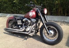 Bobber Inspiration | Harley-Davidson Dyna bobber by Krys C. | Bobbers and Custom Motorcycles