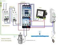 Esquemas eléctricos: Motor bomba monofásica #esquemas #electricidad #esquemaselectricos #diagrams #2016