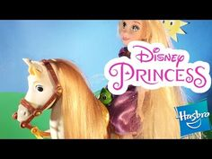 Rapunzel's Horse Maximus is cute and full of character. Rapunzel is one happy Disney. Disney Princess Rapunzel, New Disney Princesses, Tiana, Cinderella, Princess Videos, Best Kids Toys, Cool Kids, Horses, Youtube