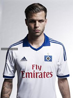 Adidas and Hamburger SV unveiled the new home football shirt. The inscription 50 Jahre Bundesliga – Nur der HSV Years Bundesliga - Only HSV) is also incorporated. World Soccer Shop, Hamburger Sv, Football Fashion, Trainer, Football Shirts, Adidas Shoes, Polo Ralph Lauren, Celebrities, Sports