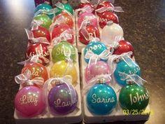 -: Glitter Ornaments