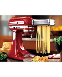 Make your own pasta on the fly with this attachment from Kitchenaid! Get it here: http://www.bhg.com/shop/kitchenaid-3-pc-pasta-roller-attachment-set-by-kitchenaid-p4fcf381c82a75e558452023a.html