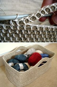 This Crochet Rope Basket is a Free Pattern. It's perfect for holding your yarn and towels.