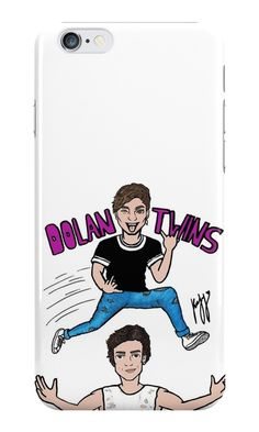 Our Dolan Twins Cartoon Drawing Phone Case is available online now for just £5.99.    Fan of Dolan Twins? You'll love our Dolan Twins Cartoon Drawing phone case, available for iPhone, iPod & Samsung models.    Material: Plastic, Production Method: Printed, Authenticity: Unofficial, Weight: 28g, Thickness: 12mm, Colour Sides: White, Compatible With: iPhone 4/4s | iPhone 5/5s/SE | iPhone 5c | iPhone 6/6s | iPhone 7 | iPod 4th/5th Generation | Galaxy S4 | Galaxy S5 | Galaxy S6 | Galaxy S6 Edge