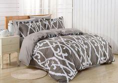 Dolce Mela 6pc Duvet Cover FULL QUEEN Bedding Sheet Set Modena Pattern  #DolceMela