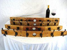 Wine Barrel Coat Rack   made from Napa by winecountrycraftsman, $70.00