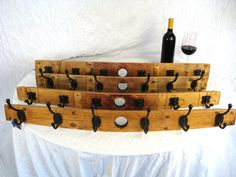 "Percha - ""raika"" - Wine Barrel Coat Rack - 100% Recycled"