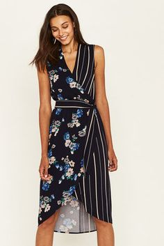 Buy Oasis Blue Foulard Midi Dress from the Next UK online shop Black Satin Dress, Blue Midi Dress, Satin Dresses, Cotton Dresses, Striped Dress, Cute Dresses, Casual Dresses, Fashion Line, Modest Fashion