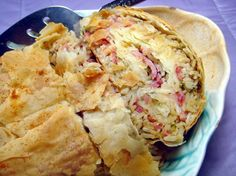 Ham Strudel-Can't wait to try this one!  I think it'll be a hit with the family.  I bet this would taste just as good if I used roast beef, turkey or chicken in it too!