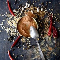 Ethiopian Spice Mix by Saveur. Berbere, whose name means hot in Amharic, is a chile-spice blend that's essential to many Ethiopian dishes. Homemade Spices, Homemade Seasonings, Homemade Gifts, Spice Blends, Spice Mixes, Ethiopian Cuisine, Ethiopian Recipes, Indian Recipes, Ethnic Recipes