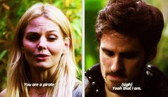 Hook's face :( He's so sad... he is characterized by him being a pirate and he is realizing that he wants to be more than that... He wants to be Emma's true love and hero. He wants people to recognize that he's good without him having to say it!