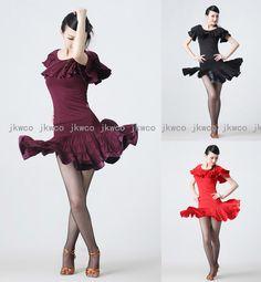 Salsa Dance Costumes | ... latin ballroom dance dress top + skirt set salsa chacha dance costume