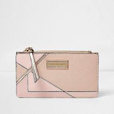 Limoengroene smalle portemonnee met overslag en paneel - Portemonnees - Tassen / portemonnees - dames