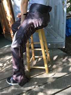 The leg of western riding/show chaps
