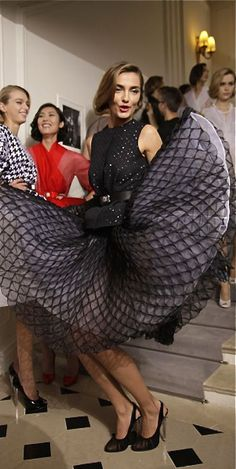 Backstage @ Christian Dior Couture Spring 2012