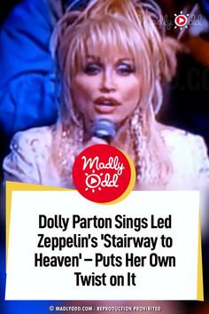 In probably one of the riskiest cover performances by a top artist ever, Dolly takes on Led Zeppelin's golden oldie, Stairway to Heaven. #ledzeppelin #dollyparton Hit Songs, Music Songs, Music Videos, Dolly Patron, Funny Riddles, The Last Song, Rock Songs, Arrow Tattoos, Stairway To Heaven