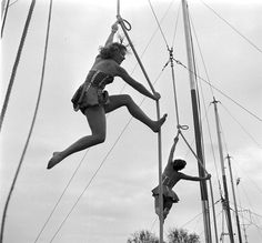 """""""Circus Girls,"""" photographed by Loomis Dean (1917-2005) at the University of Florida, 1952."""