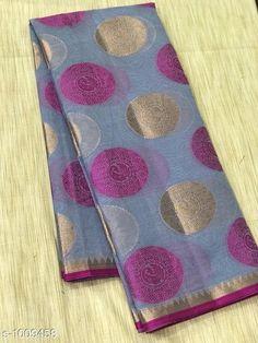Sarees Stylish Banarasi Cotton Silk Zari Work Saree  *Fabric* Saree - Banarasi Cotton Silk.  *Size* Saree Length - 5.50 Mtr.  *Work* Zari Work  *Sizes Available* Free Size *   Catalog Rating: ★4.1 (1679)  Catalog Name: Vanya Zari Woven Banarasi Cotton Silk Sarees CatalogID_121281 C74-SC1004 Code: 717-1009458-