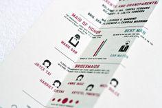 #infographic R & G Wedding Invitation by Inksurge , via Behance