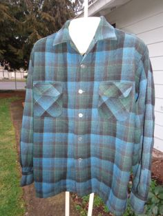 Sale Vintage 50's penny's towncraft plaid wool by Simplemiles, $56.00