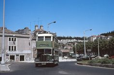Old Photos, Vintage Photos, Old Lorries, Double Decker Bus, Terra, Historical Photos, Lisbon, Buses, Old Things