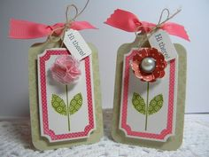 Tags by Melissa Bickford using Papertrey Ink stamps and dies.