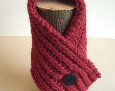 Knitting Pattern Cabled Neck Warmer