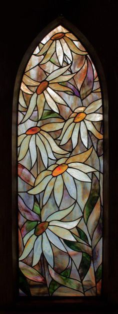 daisies stained glass