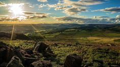 Over Owler Tor View.......... by klythawk. Late afternoon sunlight lighting up Hope Valley and catching the rocks on the hillside of Over Owler Tor. Sony A7II/24-70mm.