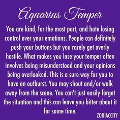 Aquarius Temper • Pinterest: @Avaviolet✨