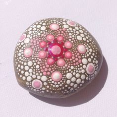 Vibrant Pink Mandala Painted Stone Collection by CreateAndCherish