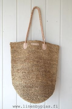 Basket bag, NATURAL - Bags and pouches - By Pia's Design