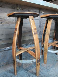 Wood Barrel Bar Stools Related Post From Wine With The Vintage And Elegant Pinterest