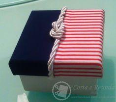 Caixa de mdf para bem nascido. Tema marinheiro.