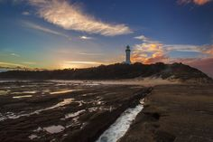 """""""Norah head lighthouse sunset"""" by shane russell photography, via 500px."""
