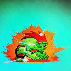 Blanka Blanka Street Fighter, World Of Warriors, Back In The Game, Arcade Machine, Fighting Games, Pin Image, Game Art, Nostalgia, Childhood