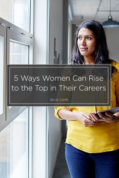 The keys to rising to the top. www.levo.com #CareerAdvice #LeanIn women in business, women business owners