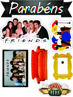 Friends Series, Friends Tv Show, Bff Birthday Gift, Friend Birthday, Bachelorette Party Planning, Friends Cake, Diy Crafts For Gifts, Cute Stickers, Vintage Home Decorating