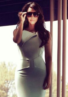 Like the way the dress fits the curves.