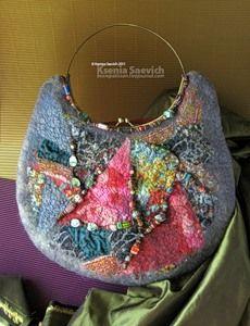 beautiful felted bag