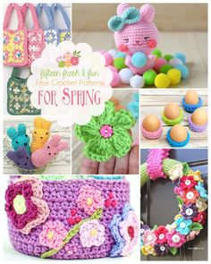 These 15 free crochet patterns for spring are sure to brighten up your home or your Easter baskets this spring! Great free Easter crochet patterns, too!