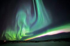 northern lights, yukon canada