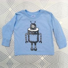 Robot T-shirt - Jen Skelley: Elliot would look super cute in this shirt.