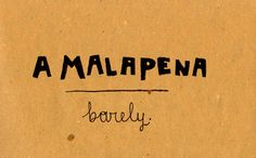 Learning Italian - A Malapena